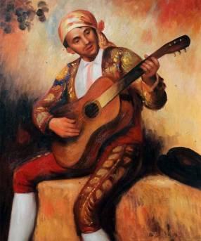 The Spanish Guitarist 1897 - Pierre Auguste Renoir
